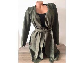 Barevný dámský kabátek s páskem Italy