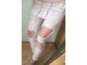 Trhané plátěné kalhoty