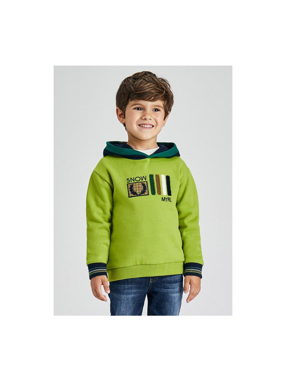 Chlapecká mikina s kapucí Mayoral 4403 zelená neon