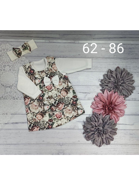 Dívčí komplet- šaty s bodýnkem, velikost 86, obr. 20
