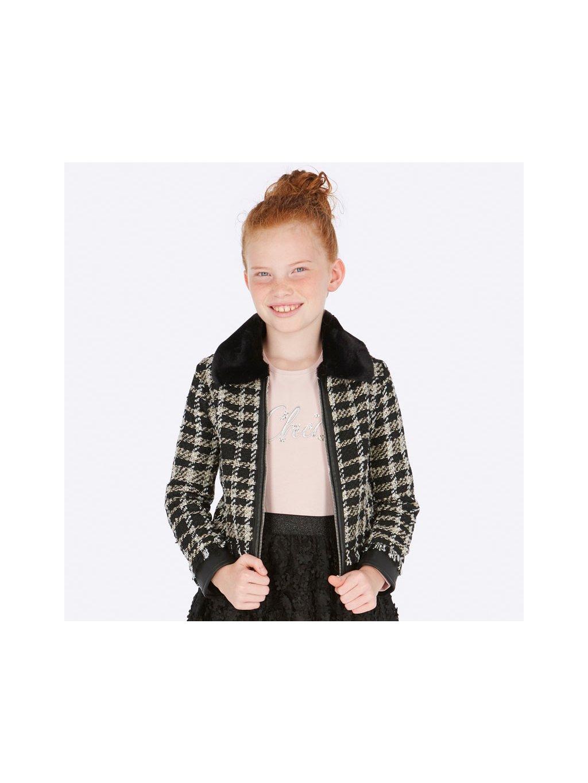 Dívčí přechodový kabát Mayoral 7408, velikost 162 (16 let), barva černá, zlatá, obr. 20