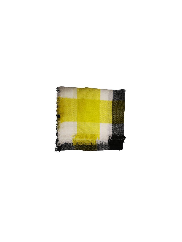 ZIMNÍ ŠÁTEK 024, barva šedá, žlutá, obr. 20