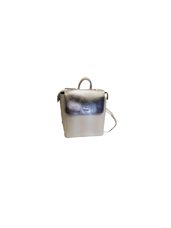DÁMSKÁ KABELKA, BATOH 055, velikost M - 38, barva bílá, stříbrná, obr. 20