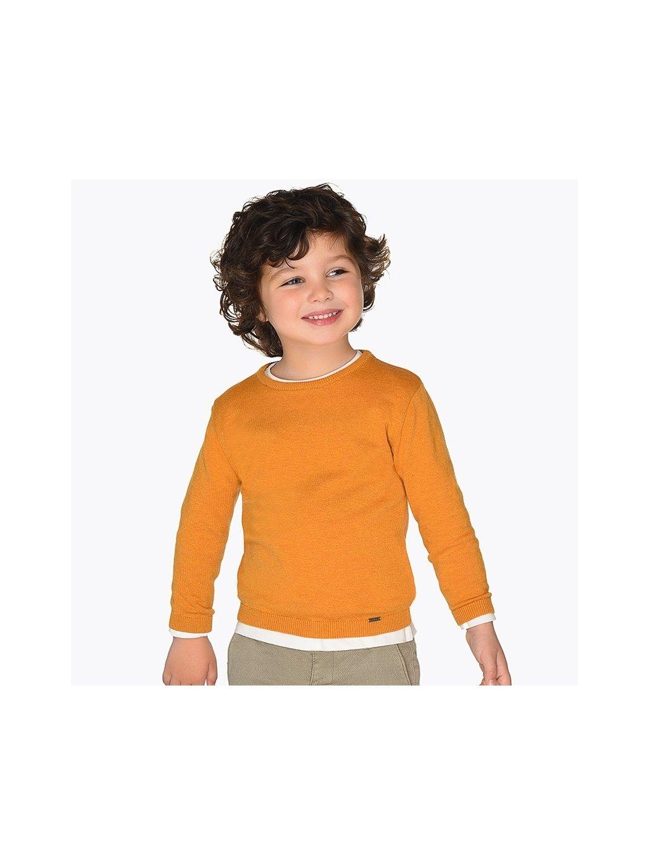 CHLAPECKÝ SVETR MAYORAL 323, velikost 98, barva žlutá, oranžová, obr. 20