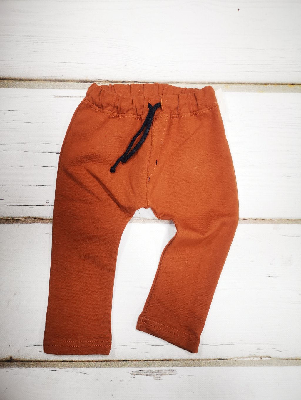 Kojenecké baggy kalhoty 069, velikost 98, barva hnědá, oranžová, obr. 20