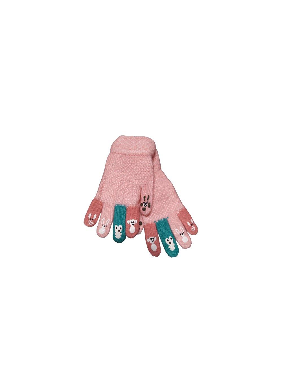 DĚTSKÉ RUKAVIČKY 013, barva růžová, obr. 20