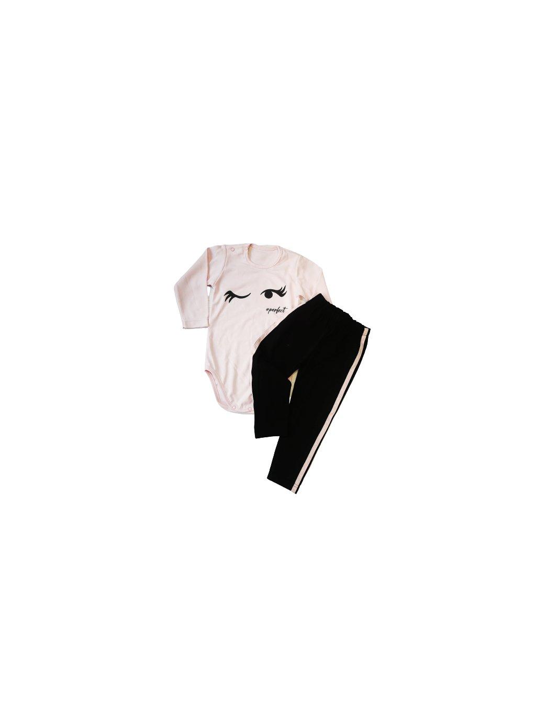 Dívčí komplet 0125, velikost 86, barva černá, růžová, obr. 20