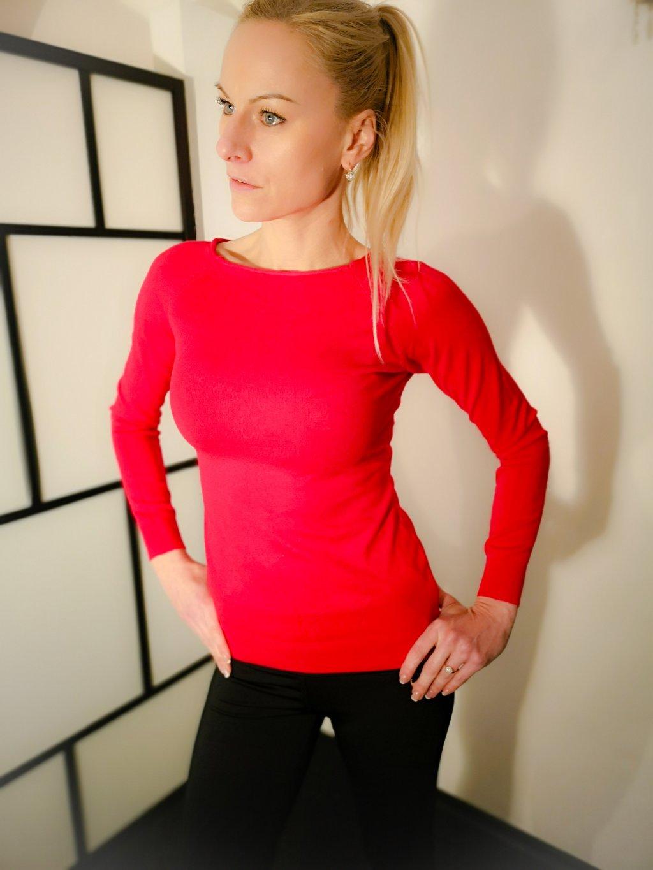 Dámský svetr 032, barva červená, obr. 20