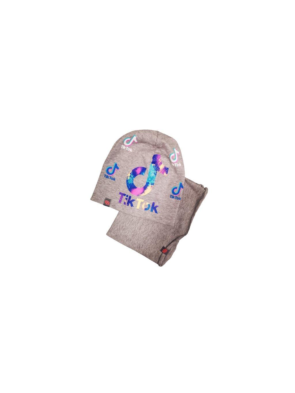Čepice s nákrčníkem Tik tok 066, barva šedá, obr. 20