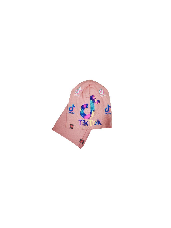 Čepice s nákrčníkem 067, barva růžová, obr. 20