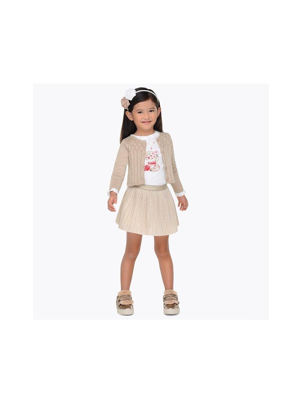 Dívčí komplet Mayoral 4980, velikost 98, barva bílá, zlatá, obr. 20