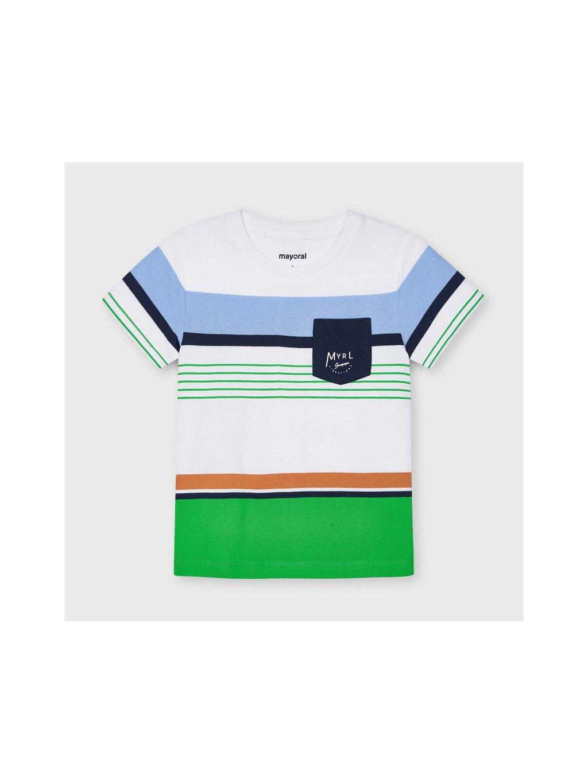 CHLAPECKÉ TRIČKO MAYORAL 3038-33, velikost 134, barva bílá, zelená, modrá, 8445054644473, obr. 20