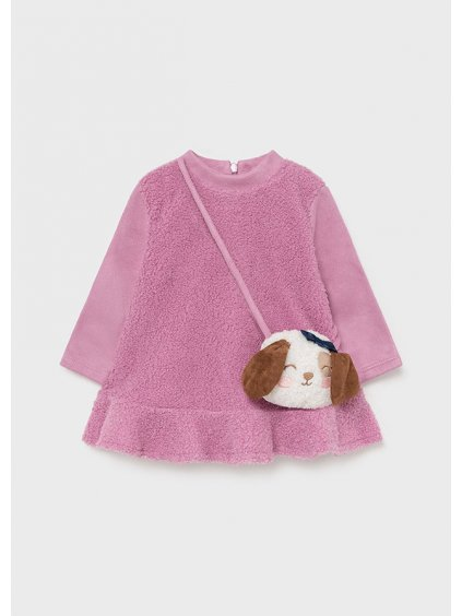 Kojenecké teplé šaty s kabelkou fialové Mayoral 2921
