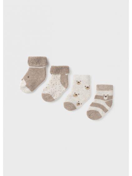 4dílná sada ponožek hnědá Mayoral 9421