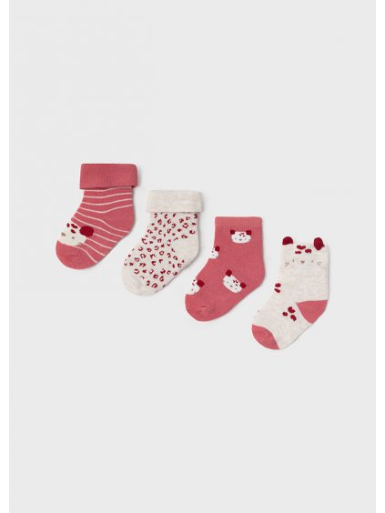 4dílná sada ponožek brusinková Mayoral 9426