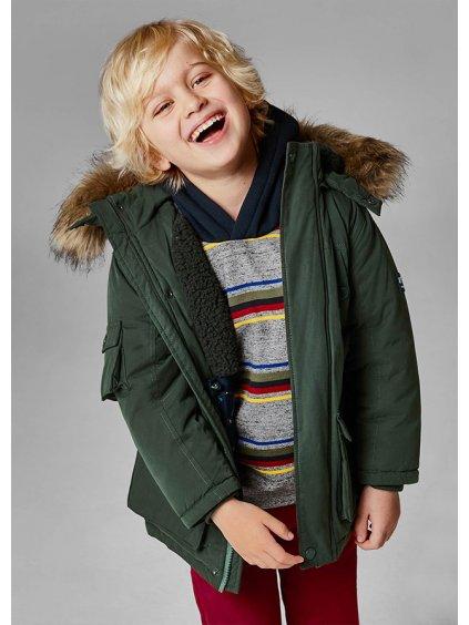 Kabát parka s kapucí z umělé kožešiny Mayoral 4416