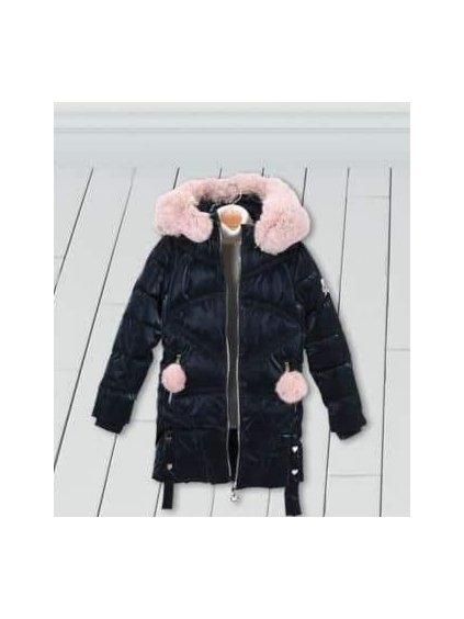 Dívčí zimní bunda 21899 modrá