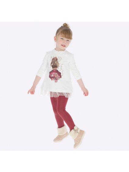 Dívčí komplet 4707, velikost 98, barva béžová, červená, 1904707045038, obr. 20