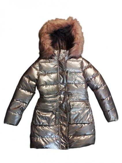 Dívčí zimní bunda 014, velikost 98, barva růžová, stříbrná, obr. 20