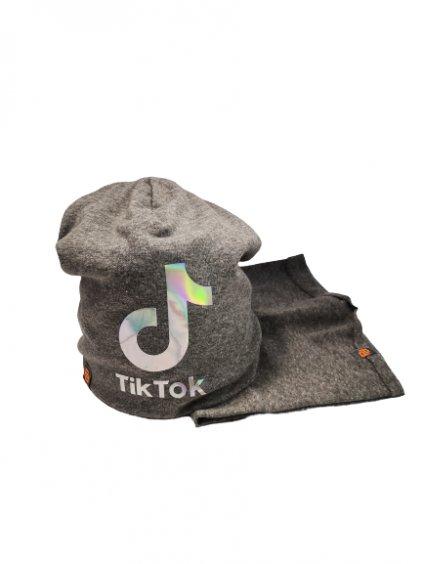 Čepice s nákrčníkem TIK TOK 017, barva šedá, obr. 20