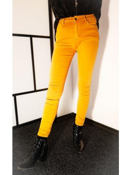 Dámské skořicové kalhoty 121, velikost XL - 42, barva oranžová, hnědá, obr. 20