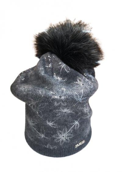 Zimní čepice 151, barva šedá, obr. 20