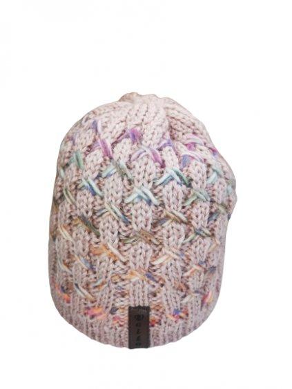 Zimní čepice 154, barva růžová, fialová, obr. 20