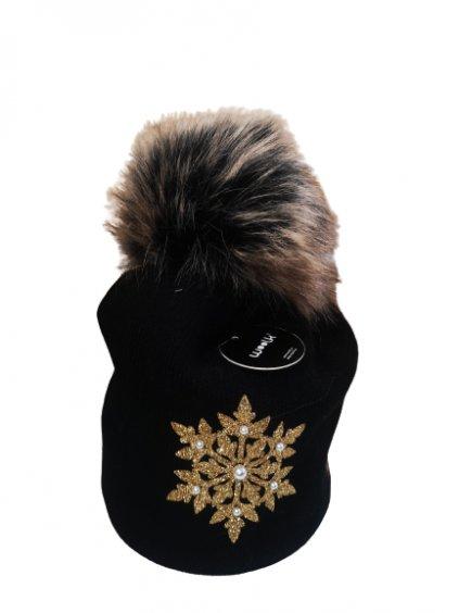 Zimní čepice 165, barva černá, zlatá, obr. 20