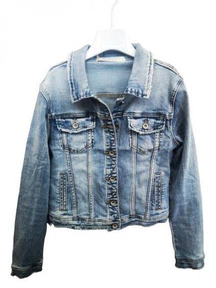 Dámská džínová bunda 21602 modrá