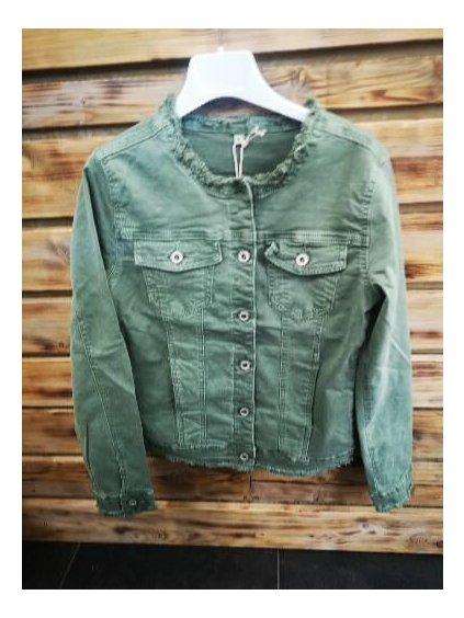 Dámská džínová bunda 21601 zelená