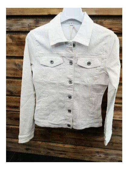 Dámská džínová bunda 21600 bílá