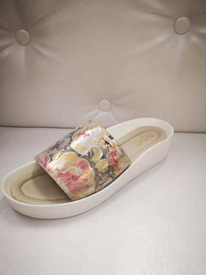 Dámská obuv, sandály 21899 béžovozlaté