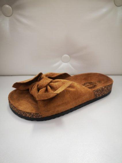 Dámská obuv, sandály 21898 rezavé