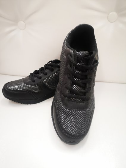 Dámská obuv, pohodlné  tenisky 21990 černé