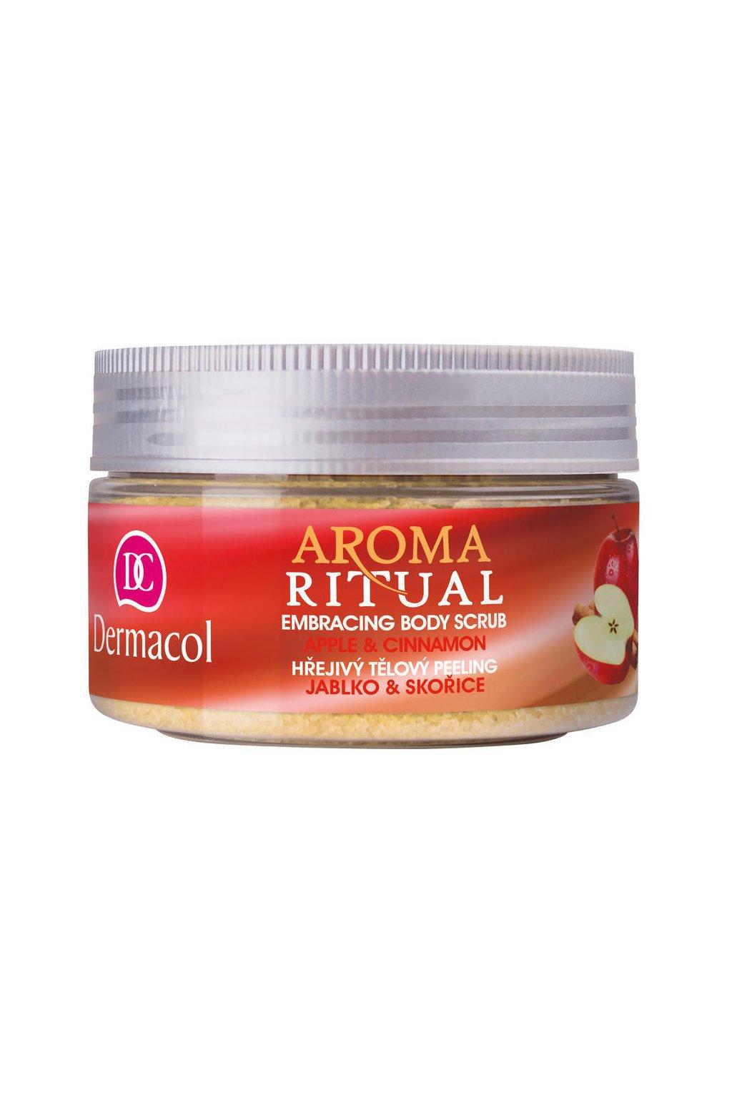 dermacol aroma ritual embrasing body scrub apple and cinnamon telovy peeling
