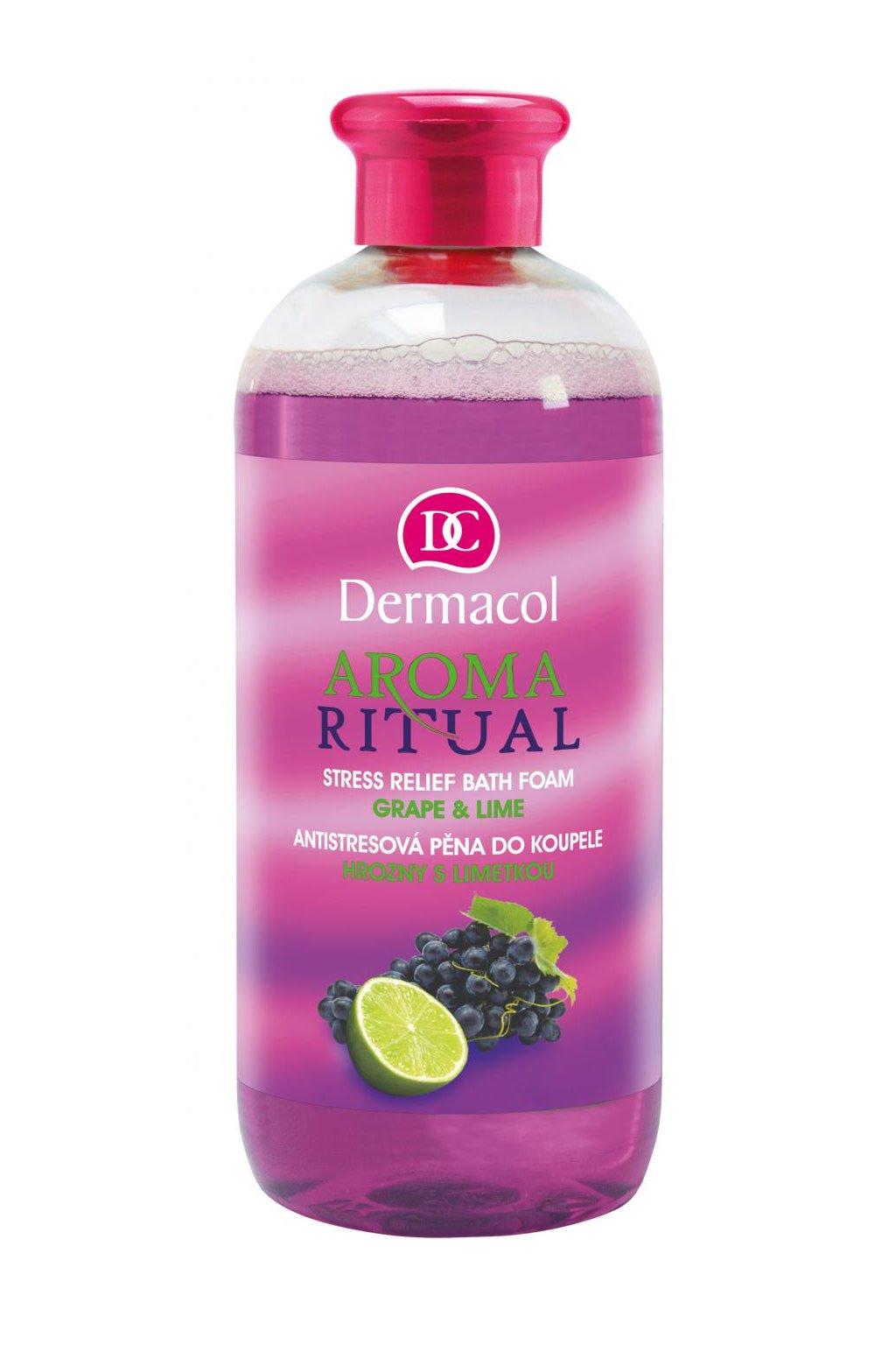 dermacol aroma ritual bath foam grape and lime pena do koupele hrozny s limetkou