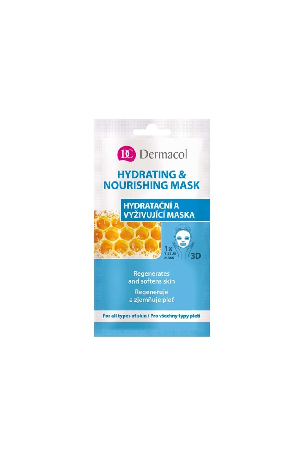 dermacol hydrating nourishing mask textilni 3d hydratacni a vyzivujici maska 15