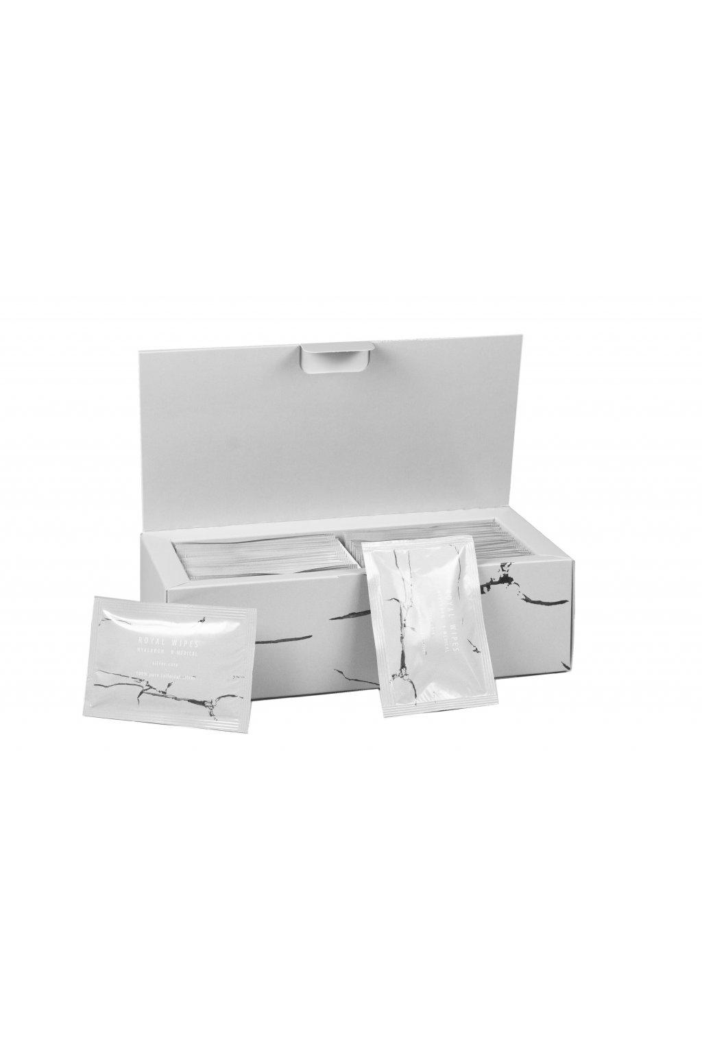 n medical royal wipes silver care vlhcene ubrousky 30 ks