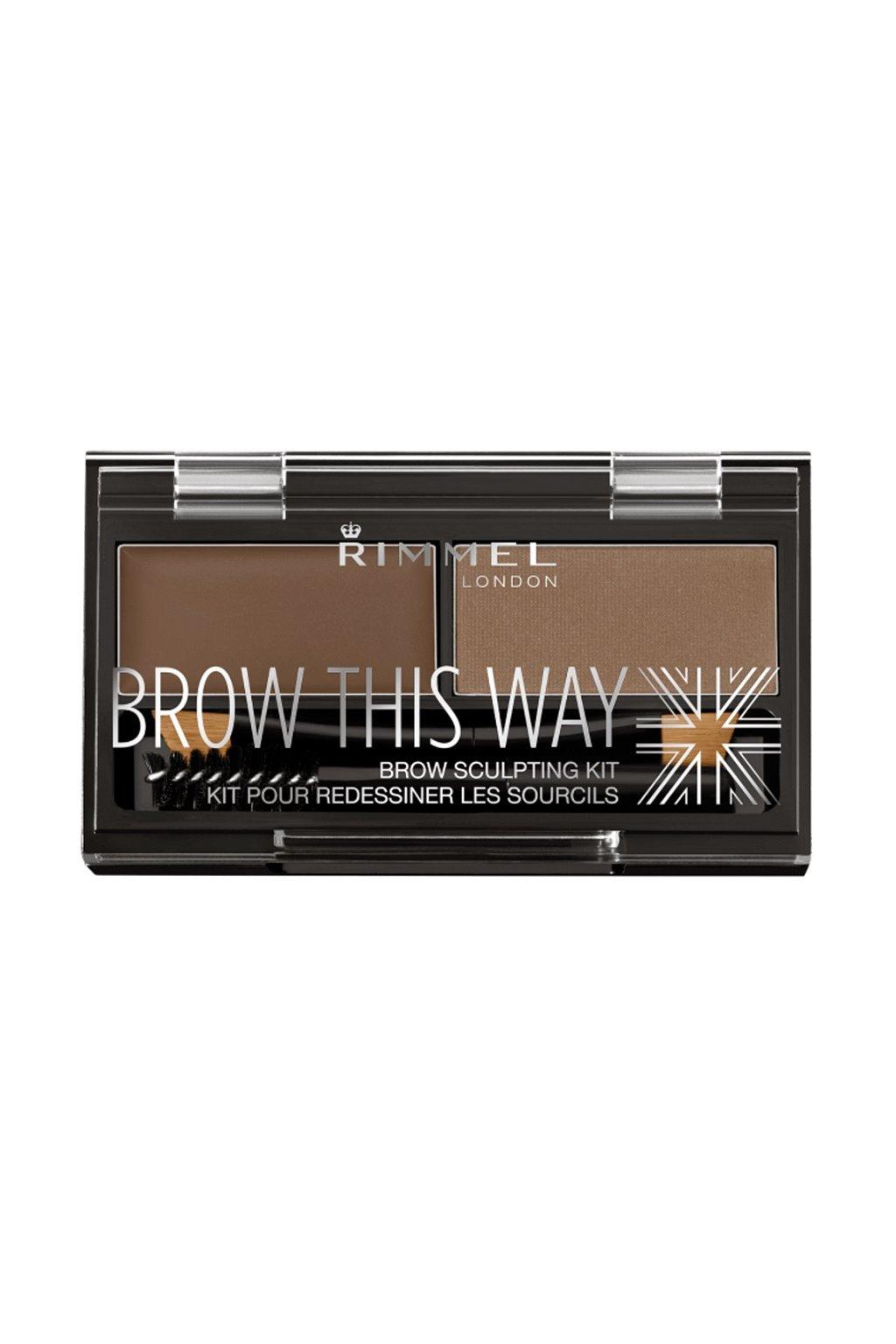 rimmel paletka pro dokonale oboci brow this way powder kit 002 medium brown 2 4 g