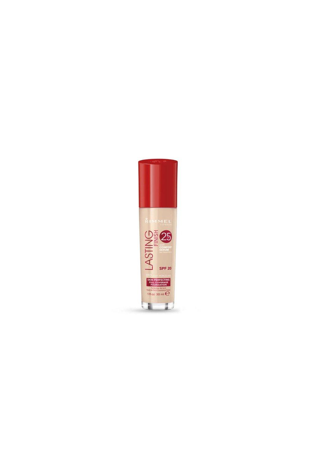 rimmel london lasting finish 25hr spf20 makeup pro zeny 30 ml odstin 010 light porcelain