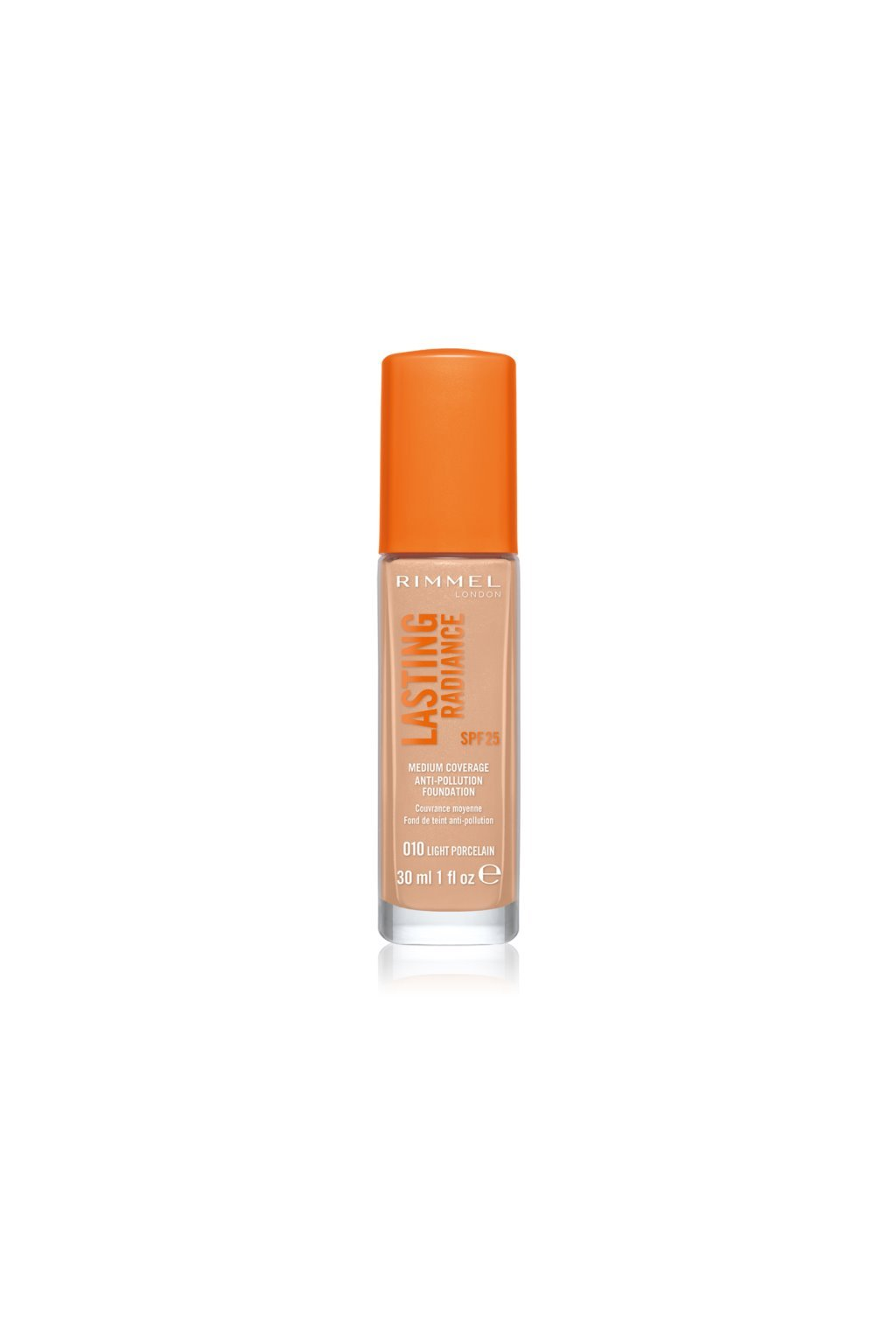 rimmel lasting radiance rozjasnujici make up spf 25 odstin 010
