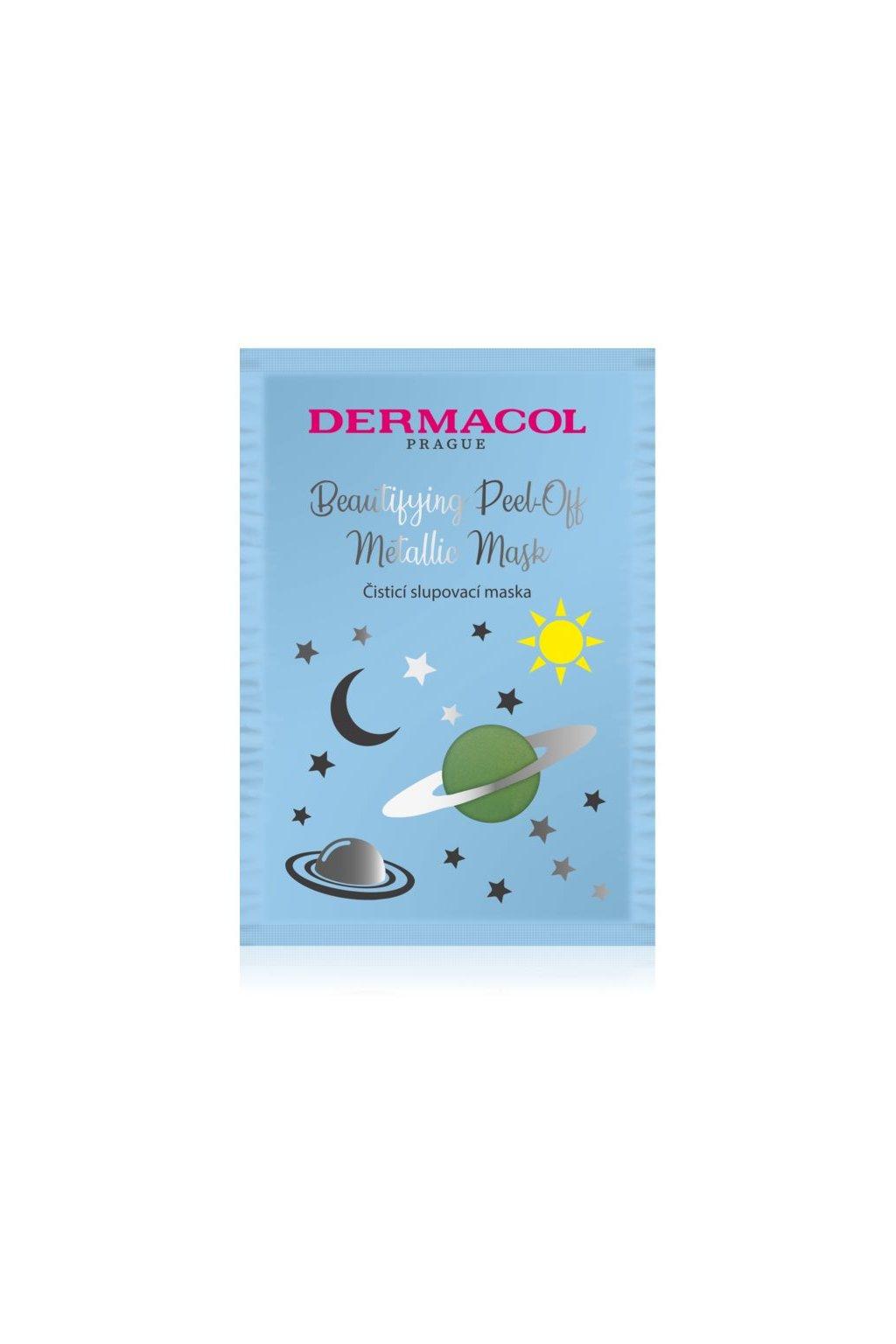 dermacol beautifying peel off metallic mask slupovaci maska pro hloubkove cisteni