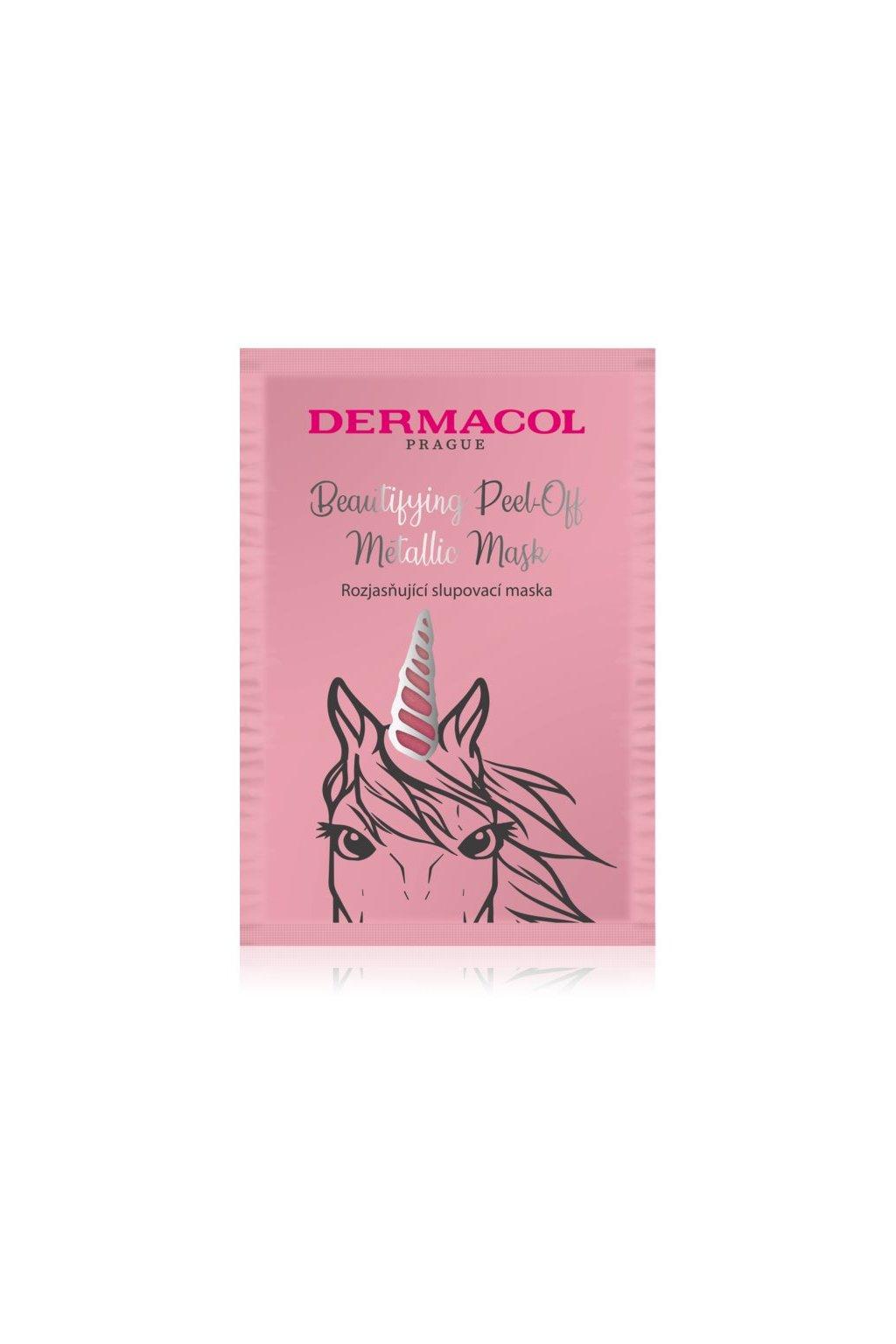 dermacol beautifying peel off metallic mask slupovaci maska pro rozjasneni pleti