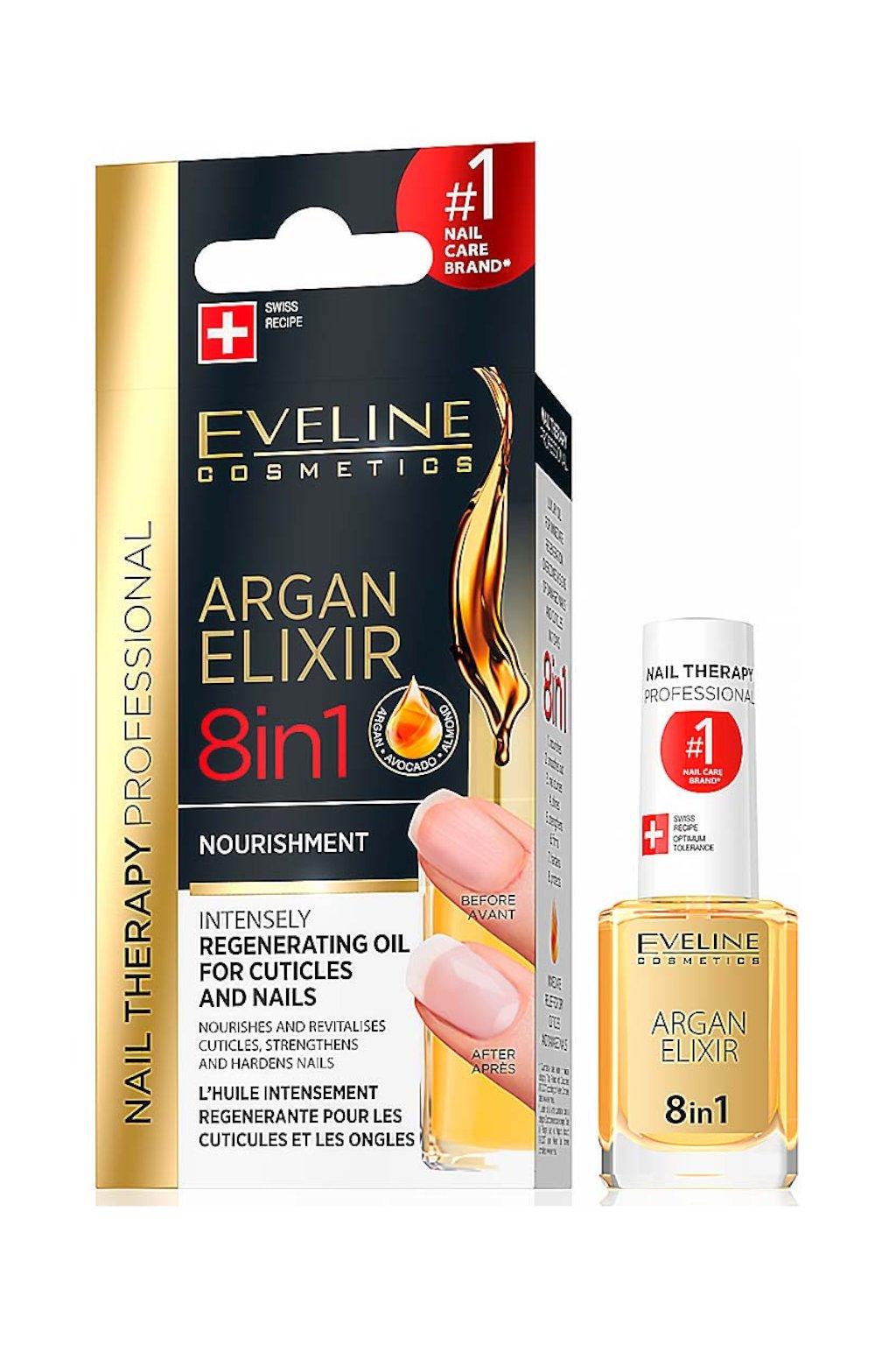 Eveline Cosmetics Nail Therapy Argan Elixir 8v1