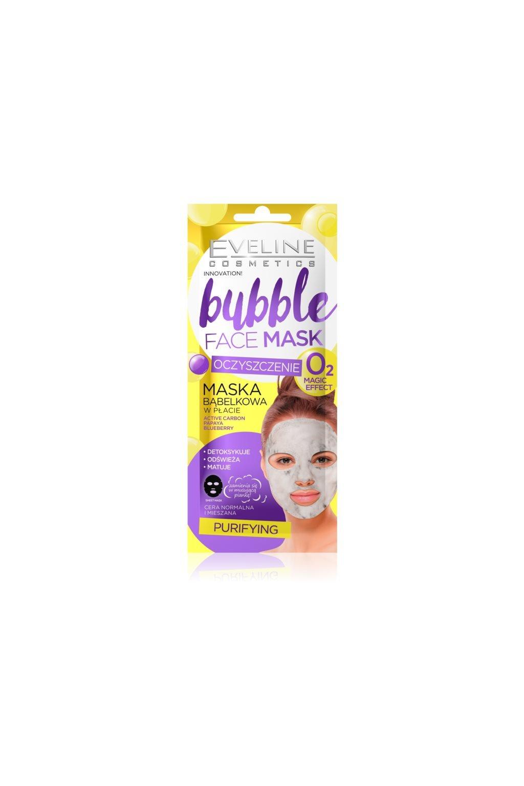 eveline cosmetics bubble mask platynkova maska s cisticim efektem