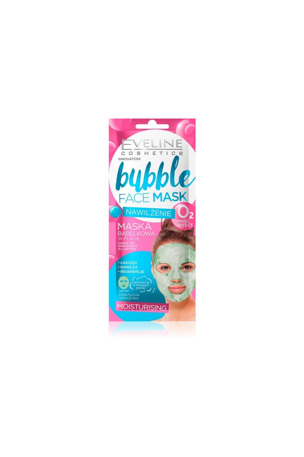 eveline cosmetics bubble mask platynkova maska s hydratacnim ucinkem