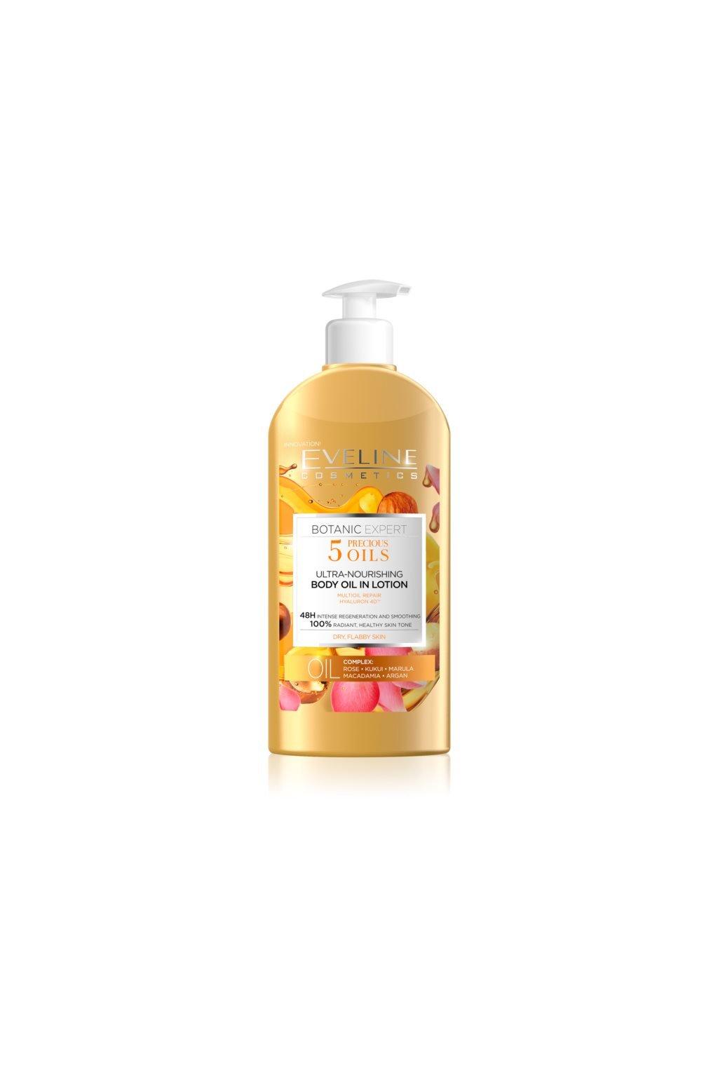 eveline cosmetics botanic expert vyzivne telove mleko pro suchou pokozku 300 ml