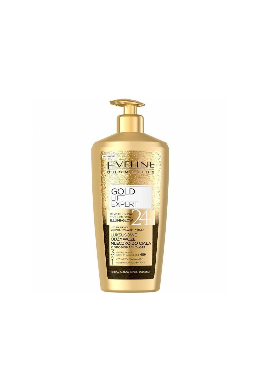 eveline cosmetics gold lift expert luxusni te love mleko 350 ml