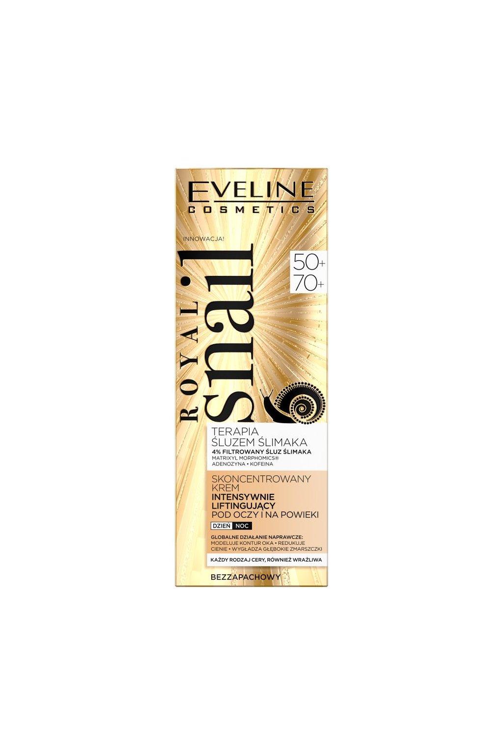 eveline cosmetics royal snail 50 70 denni nocni krem na ocni okoli 20 ml