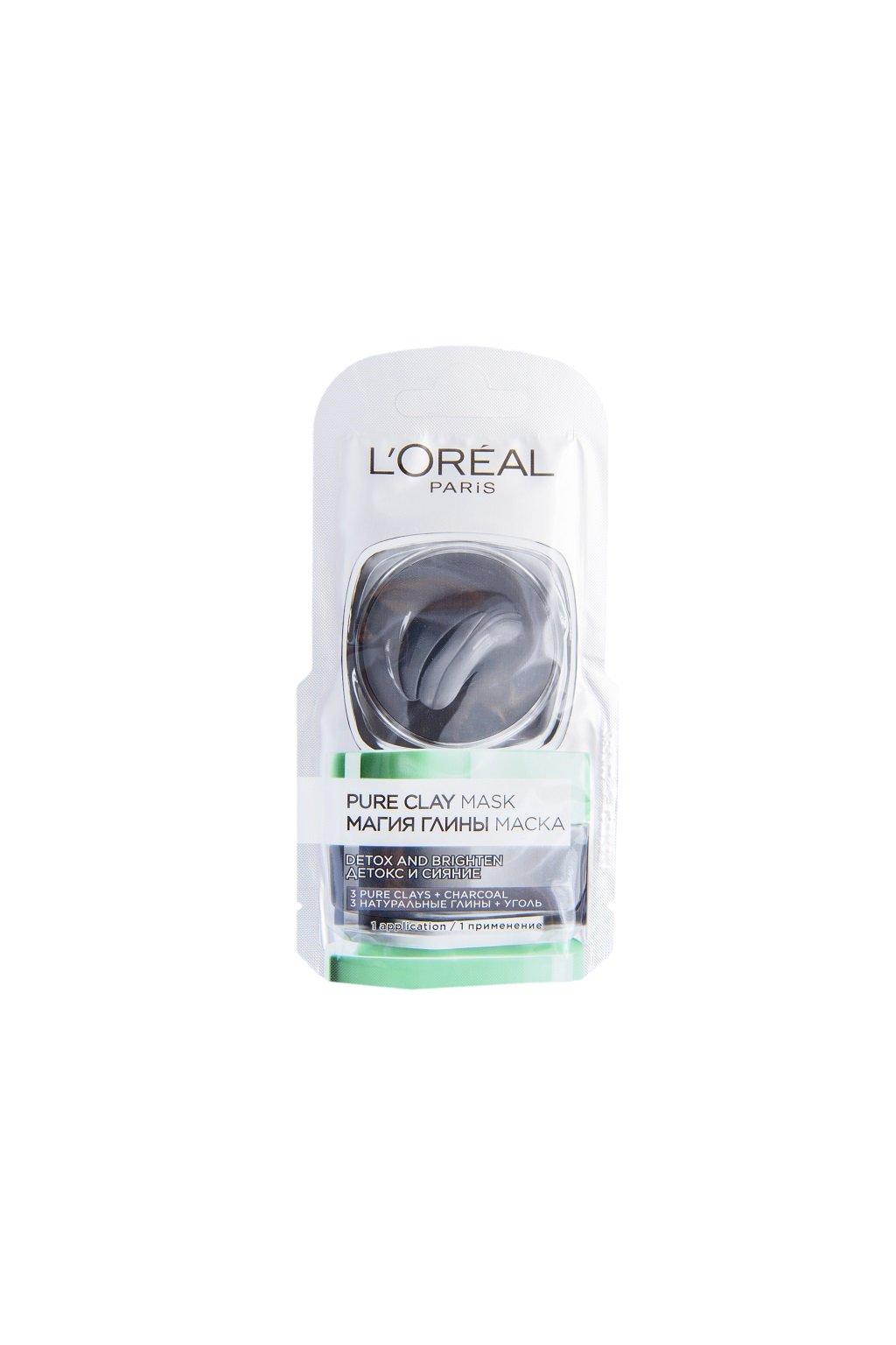 loreal paris pure clay detoxikacni maska 6 ml